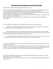 Discussion Questions for Buddha Primary Source Reading (Autosaved).doc
