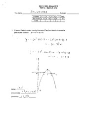 MATH 1090 Winter 2012 Test 2 Solutions