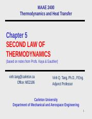 Chap 5 Second Law of Thermodynamics-2014.pptx