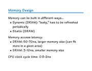 Lecture 27 - Memory Hierarchy