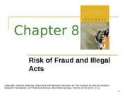 ACCT 632 Chapter 8 PowerPoint Slides