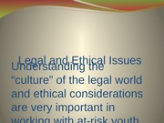 Chp 3 Legal and Ethical Issues