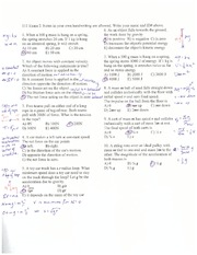 Exam 2 Solution Summer 2014 on Mechanics, Thermo, Waves