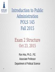 Introduction to Public Administration Exam 2 Structure.pptx