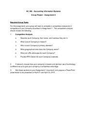Group Project Assignment 2