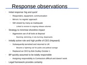 Response observations