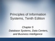 Principles of Information Systems chapter 05