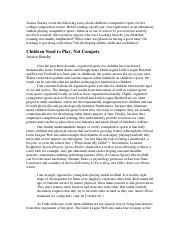 jessica statsky essay