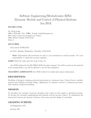 SE 3DX4 Course Outline