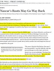 Nascar's Roots May Go Way Back - WSJ.pdf