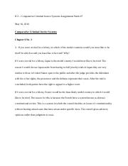 Comparative Criminal Justice Systems Week 7 Assignements.docx