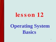 les12-Operating Systems Basics