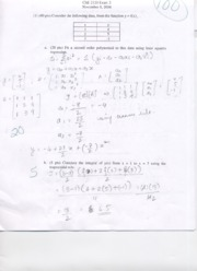 Exam 2 Solution CHE 2120 Fall 2004