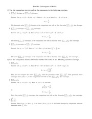 Tests for convergence with answers