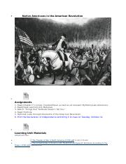 1. Native Americans in the American Revolution