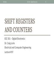 Lecture 19 - Shift Registers and Counters (1)