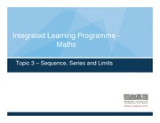 Topic 3 Sequences Series Limits Lecture Notes