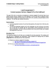 General purpose memory mapping Assignment