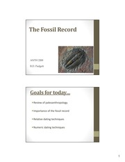 Lesson 8.1 - Fossil Record & Dating