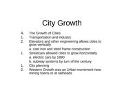 City Growth