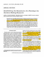 1996_CANNONBOWERS-SALAS-PRUITT_Establishing the Boundaries of a Paradigm for decision-making researc
