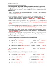 Exercise1 - Units, Sci Notation, Numbers-Answers
