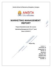 Marketing Management Report.docx