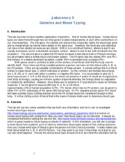 Lab 5 Genetics and Blood Typing