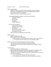 Lecture 2 Notes HPV Vaccine