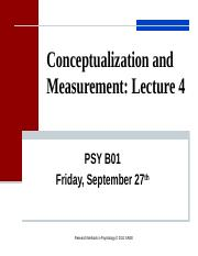 Lecture 4.Conceptualization Measurement