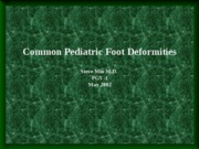 PediatricFootDeformities