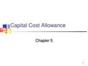 ACC 742 Lecture 5 Capital Cost Allowance Fall 2010