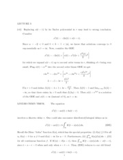 Lecture 3 Notes and Solution