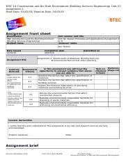 btec assignment brief unit 8 qcf Edexcel btec level 3 nationals specification in sport – issue 1 – january   unit 8: practical team sports unit code: r/502/5634 qcf level 3: btec  national.