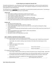 FS 102 College Success Assignment Education Plan.docx
