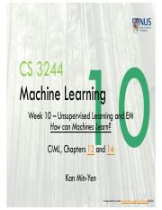 Lect10 Unsupervised Learning and EM