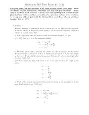 Sample Midterm #1 Solutions