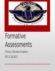 Formative Assessments Powerpoint