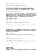 Hunger Games Chapter Questions- Answers (1)
