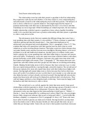 Teen parent relationship essay.doc