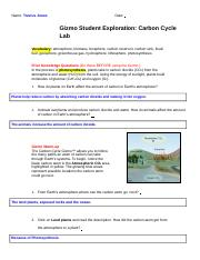 Copy of Gizmo Student Exploration_ Carbon Cycle Lab ...
