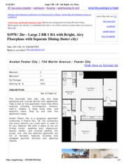 Large 2 BR 1 BA with Bright, Airy Floorplans with Separate Dining