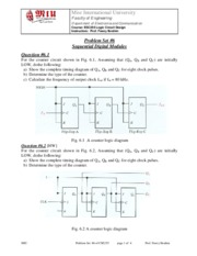 CSE255 Logic Problem Set #6 Sequential Digital Modules - Copy