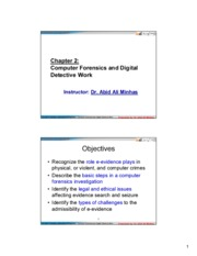 CIS 483  FIR -Ch02-Computer Forensics and Digital Detective Work-For Students