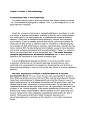 Ch2-Causes of Psychopathology