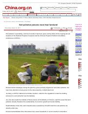 003-Soil pollution poisons more than farmland - China.org.cn