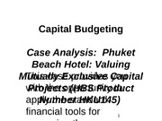 Phuket Beach Hotel Capital Budgeting(2)