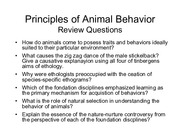Bio 470 Behavioral ecology lecture 1