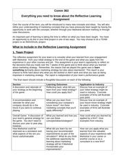 Reflective Learning Assignment