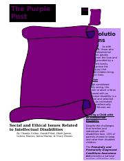 Social and Ethical Issues Related to Intellectual Disability (3).docx